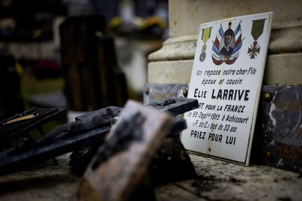 """Citation : """"A toujours été un vaillant soldat faisant constamment preuve de courage et de dévouement.Tombé glorieusement pour la France."""""""