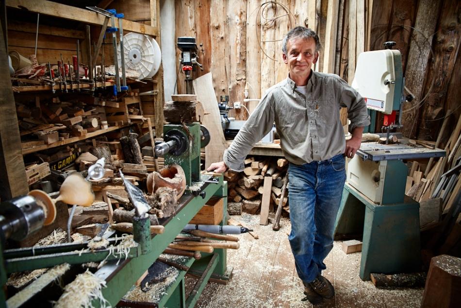Fred Grousset, tourneur sur bois, 2009