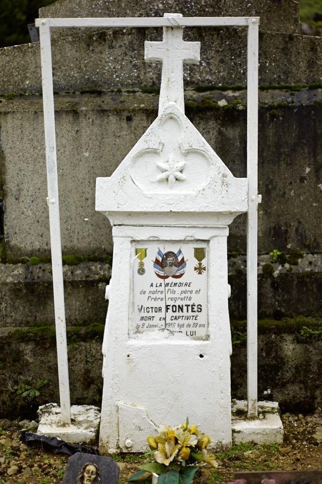 Peyrilles, Victor Fontès mort en captivité en Saxe à 32 ans.