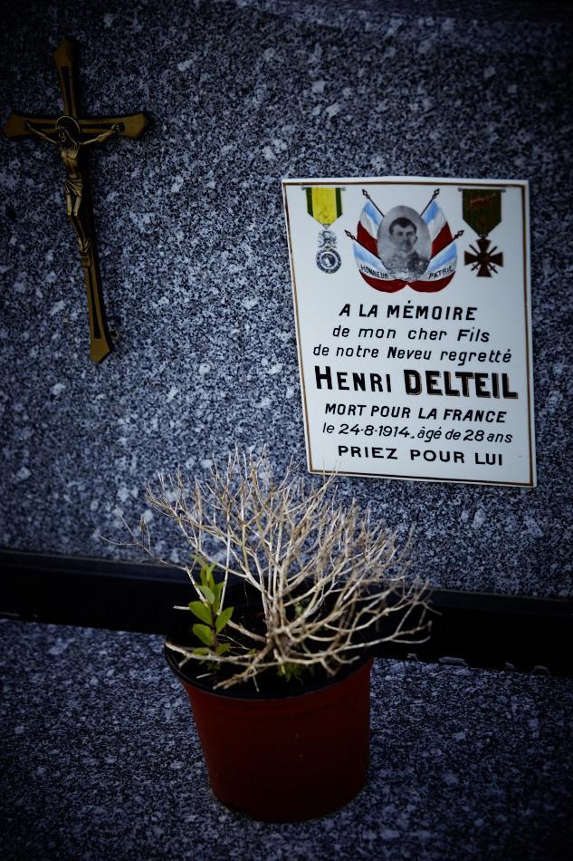 Mechmont, pendant son service militaire, Henri Delteil est clairon, il disparait sur le champs de bataille le 24 août 1914, son décès est prononcé en 1920