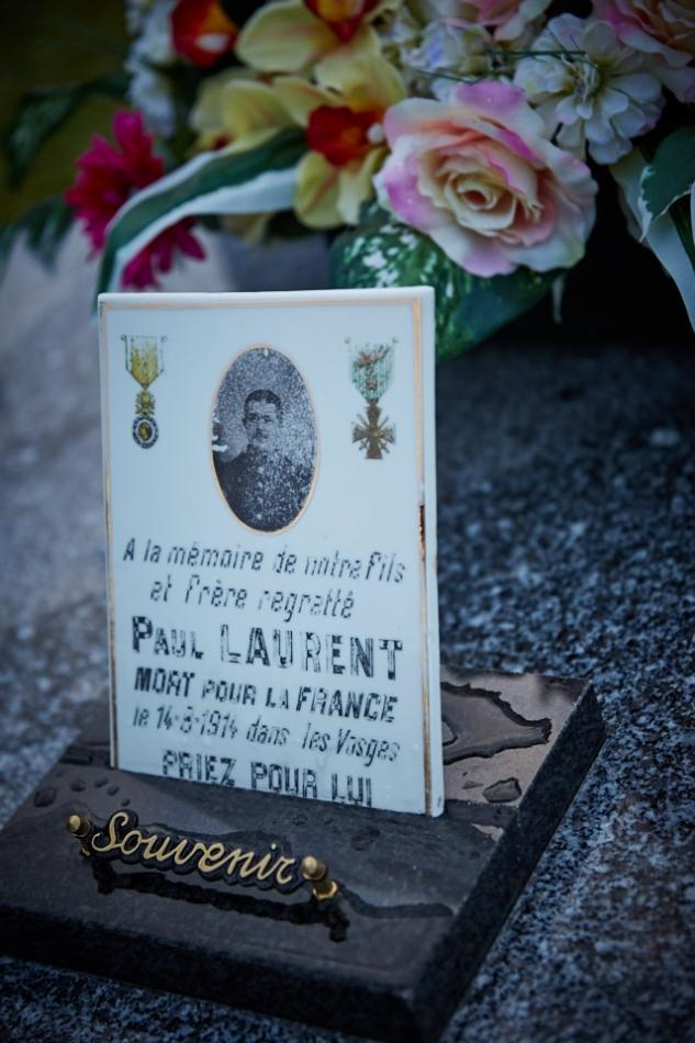 Frayssinet, Paul habite à Paris en 1913, il est mobilisé le 3 août 1914, au front le 8, tué le 18 à Petitmont