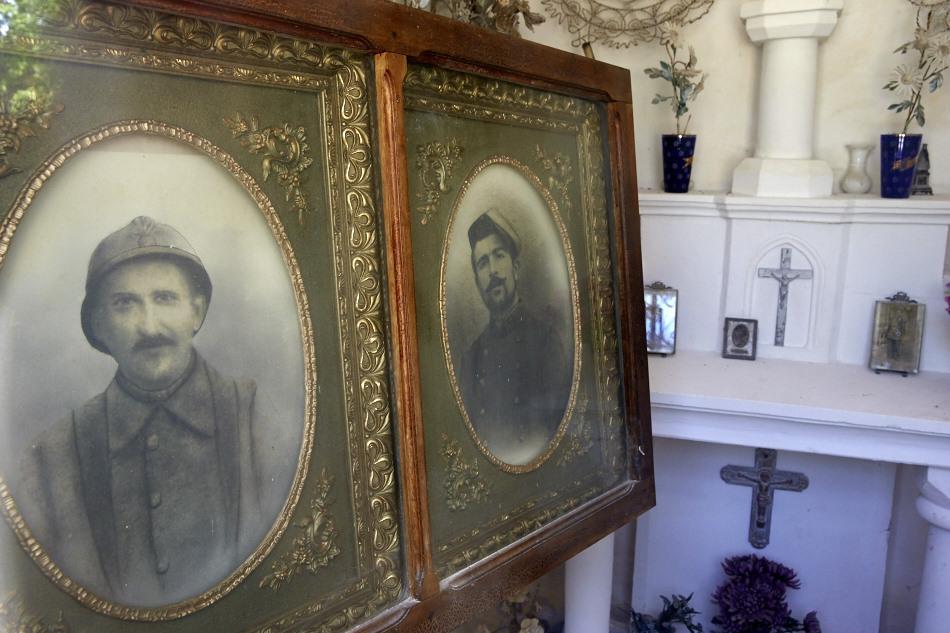 Sauliac sur Célé, 2 frères, Léopold et Emile Blanc, tous deux tués au combat en avril 1917.