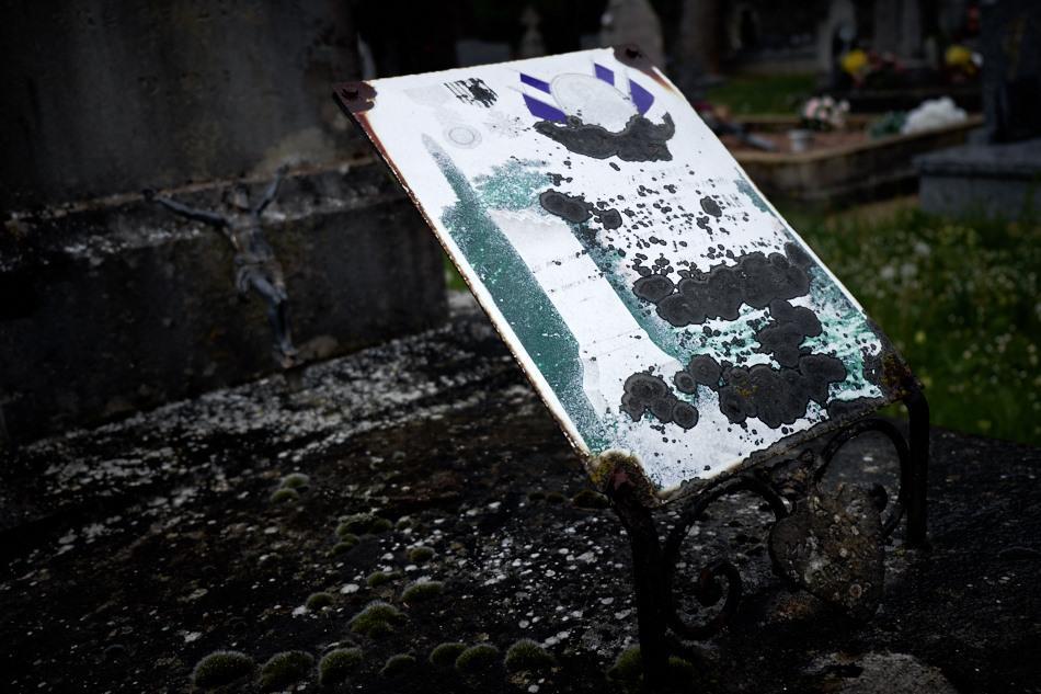 Gramat, cimetière de Saint Chignes, Jean Marcel Mazet, 29 ans, artilleur, mort pour la France le 17 mai 1918 dans l'Oise.