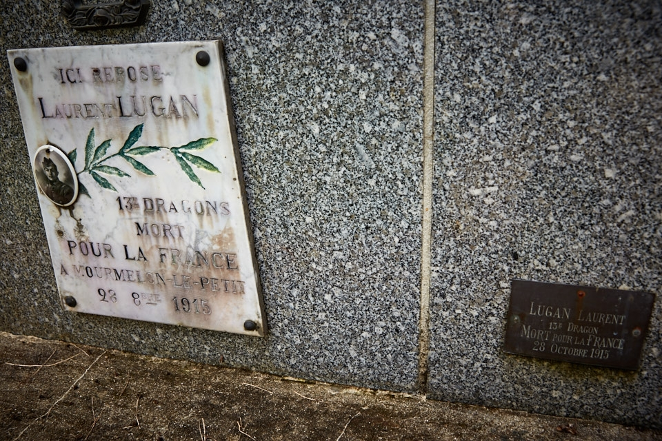 Cavalier au 13° dragon d'Agen meurt d'intoxication par gaz asphixiant ennemi à l'ambulance 1/60 de Mourmelon le Petit.
