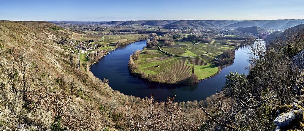 Boucle du Lot à Parnac vue depuis l'oppidum de Luzech