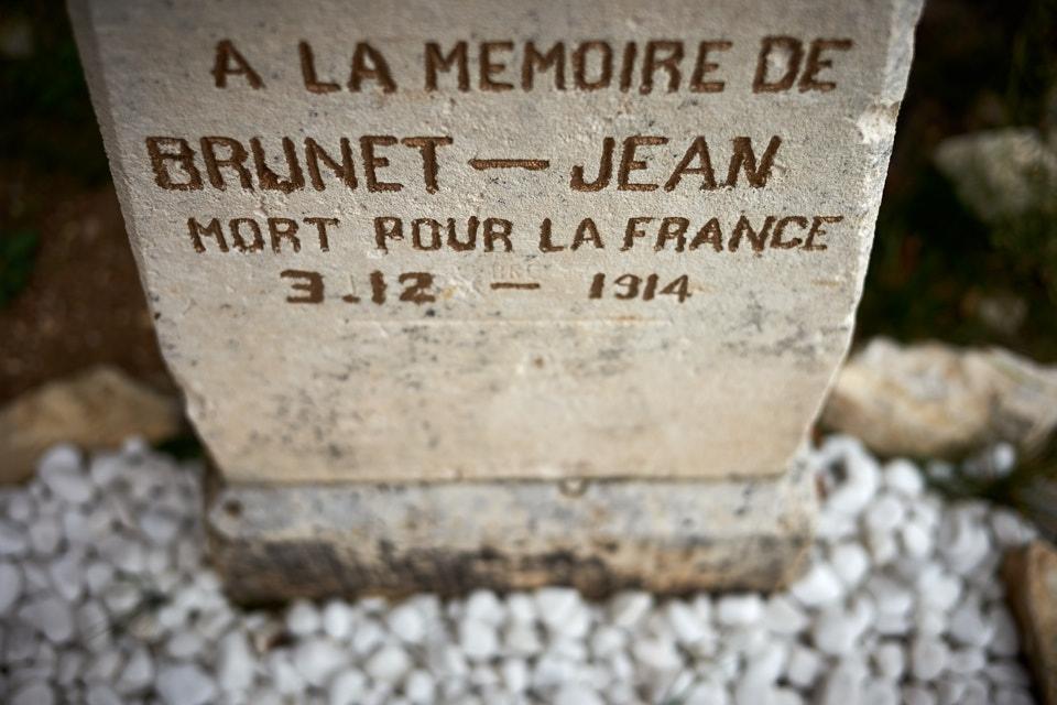 Tué à l'ennemi à la Tête de Faux en Alsace