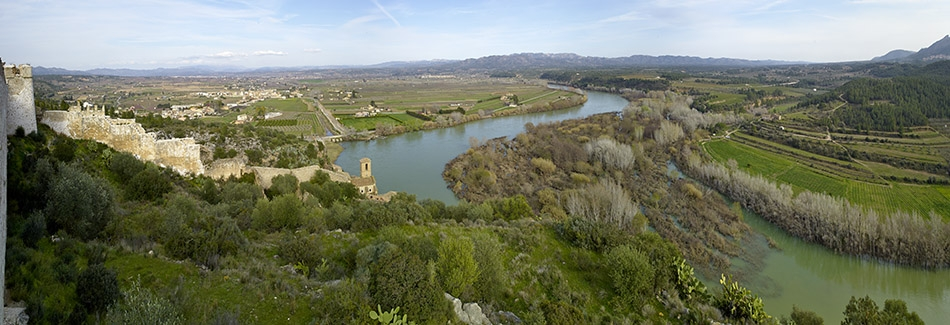Miravet, Espagne, l'Ebre